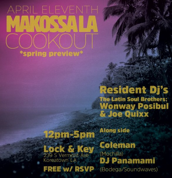 Makossa LA featuring Soundwaves Resident DJ Francesca Harding (aka Panamami) - April 11, 2015